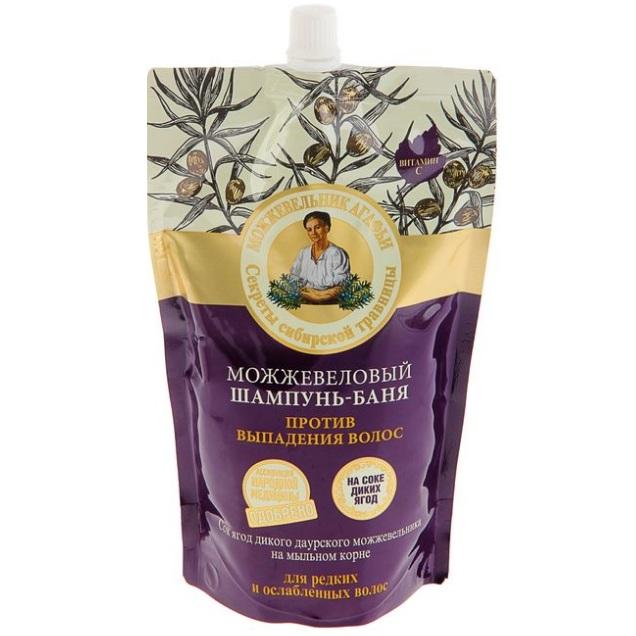 Купить Рецепты Бабушки Агафьи Шампунь-баня для волос Можжевеловый против выпадения 500мл, Рецепты бабушки Агафьи