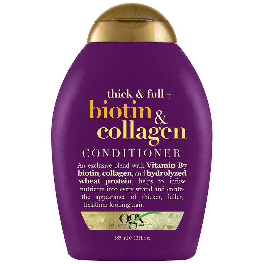 Купить OGX Кондиционер для лишенных объема и тонких волос с биотином и коллагеном 385 мл