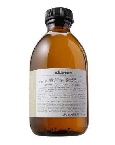 Давинес (Davines) ALCHEMIC SHAMPOO for natural and coloured hair Шампунь АЛХИМИК для натуральных/окрашенных волос золотой 280мл фото