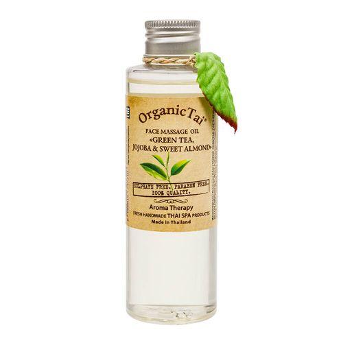 Купить OrganicTai Масло массажное для лица Зеленый чай жожоба и сладкий миндаль 120мл