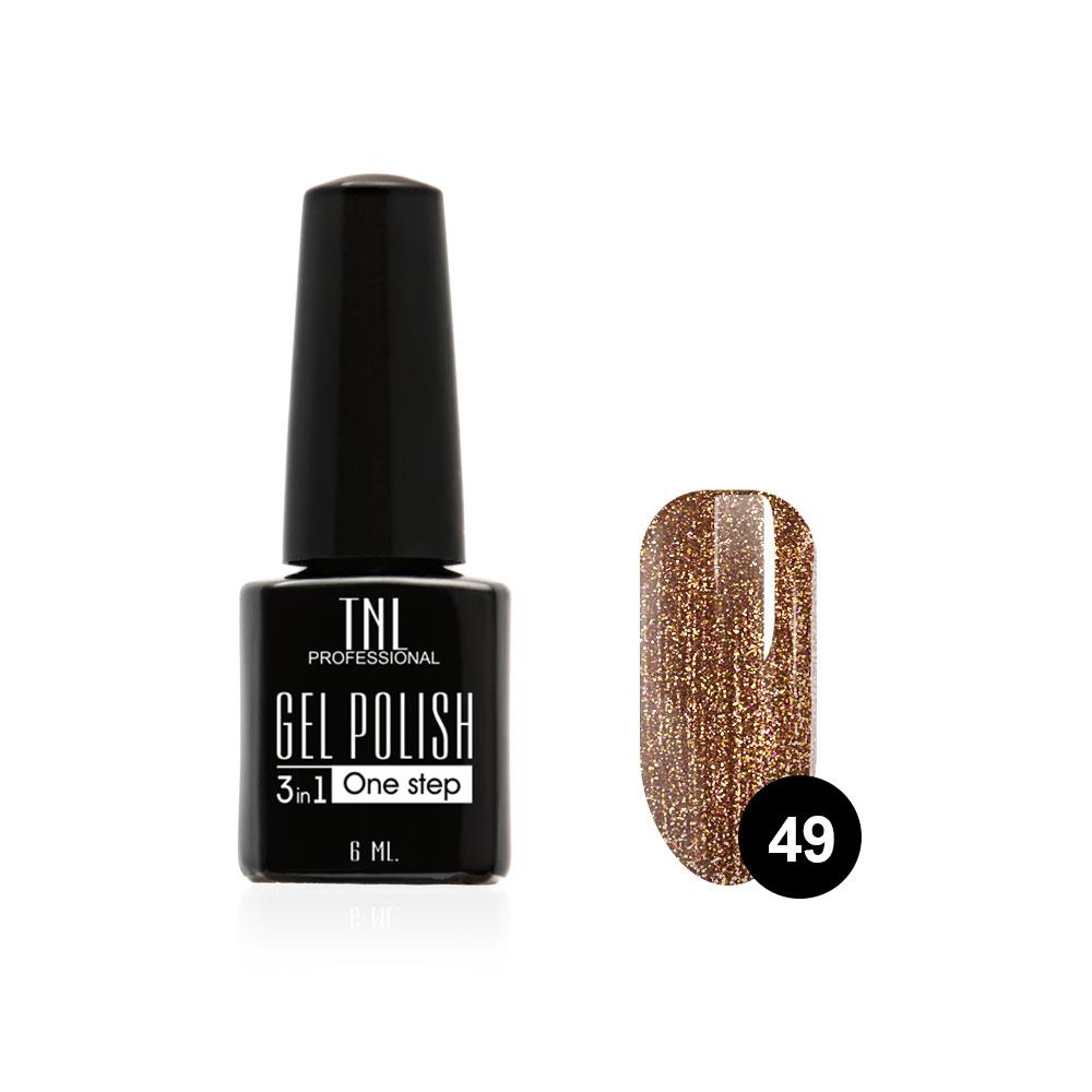 Tnl гель-лак 3 в 1 №49 - бронзовый 6 мл