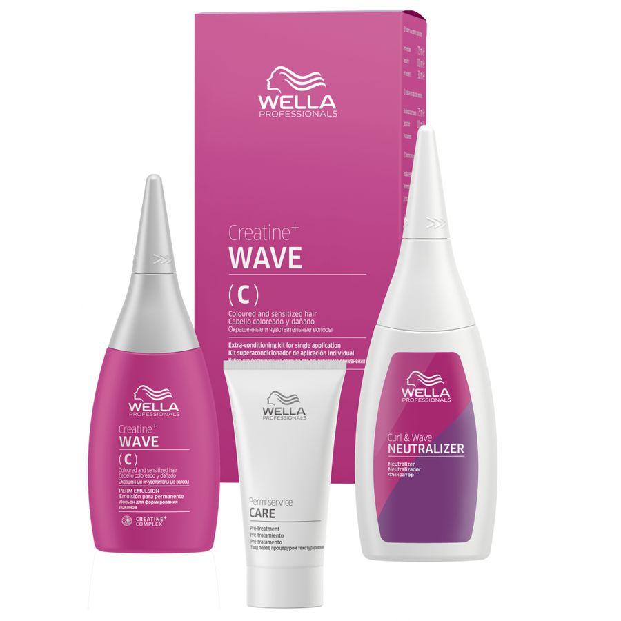 Купить Wella CREATINE+ WAVE(C) Набор для окрашенных и чувствительных волос 30/75/100