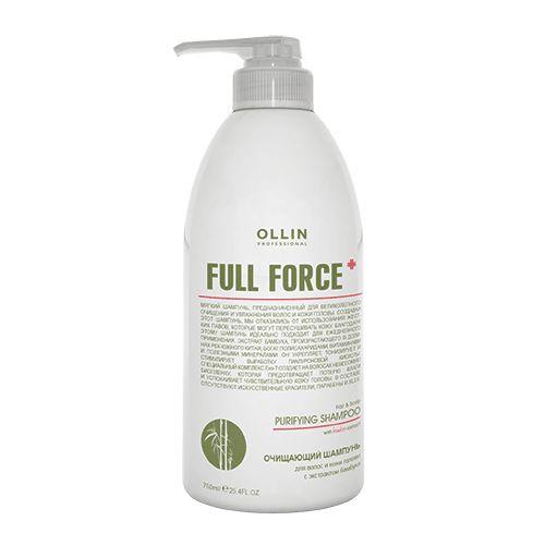 Купить Ollin Professional FULL FORCE Очищающий шампунь для волос и кожи головы с экстрактом бамбука 750мл