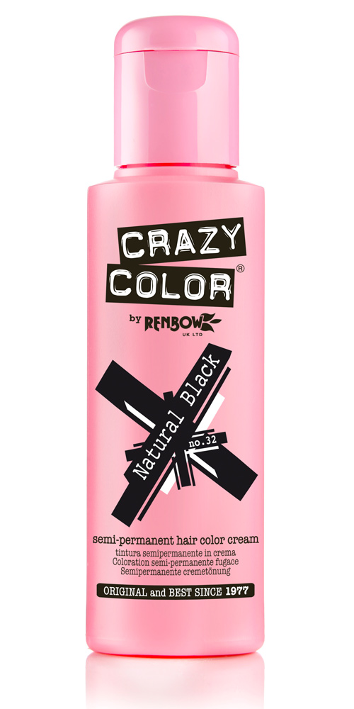 Crazy color краска для волос natural black /