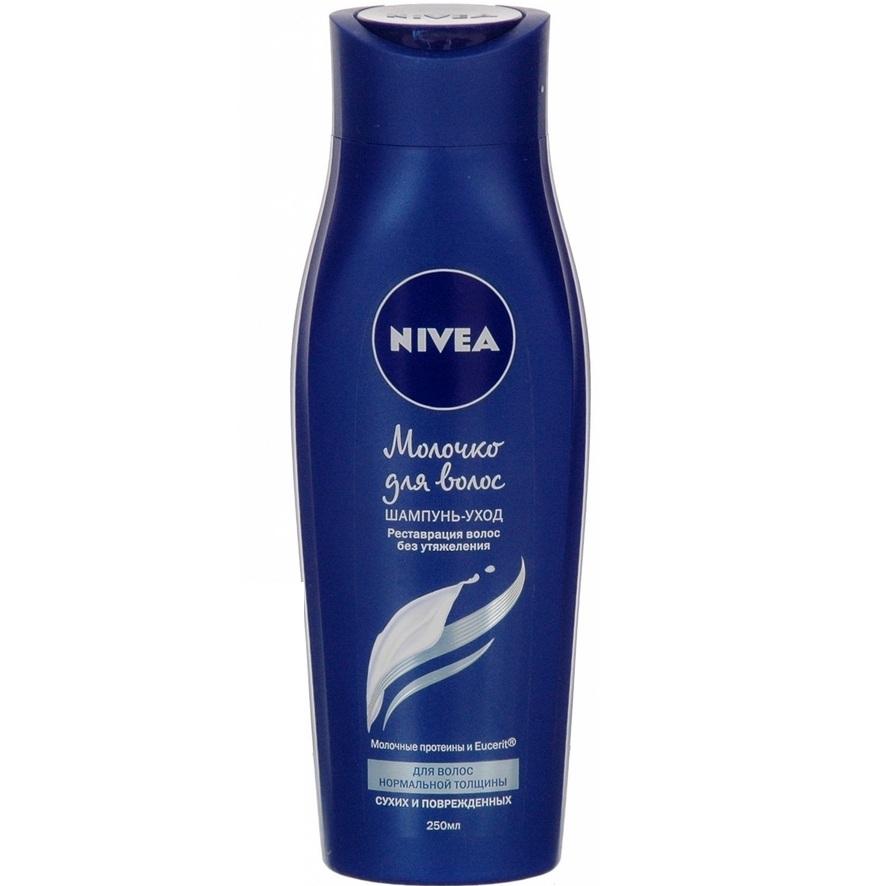 Купить Нивея Шампунь-уход Молочко для волос для волос нормальной толщины 250 мл [82788], Nivea