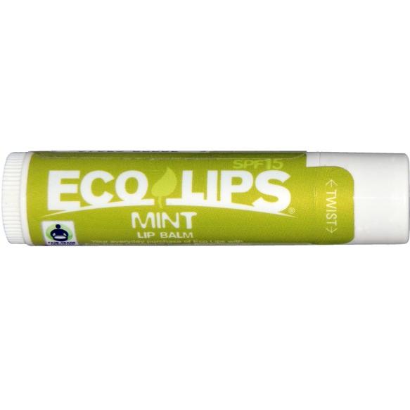 Eco Lips Бальзам для губ SPF15 мятный аромат 4, 25г  - Купить