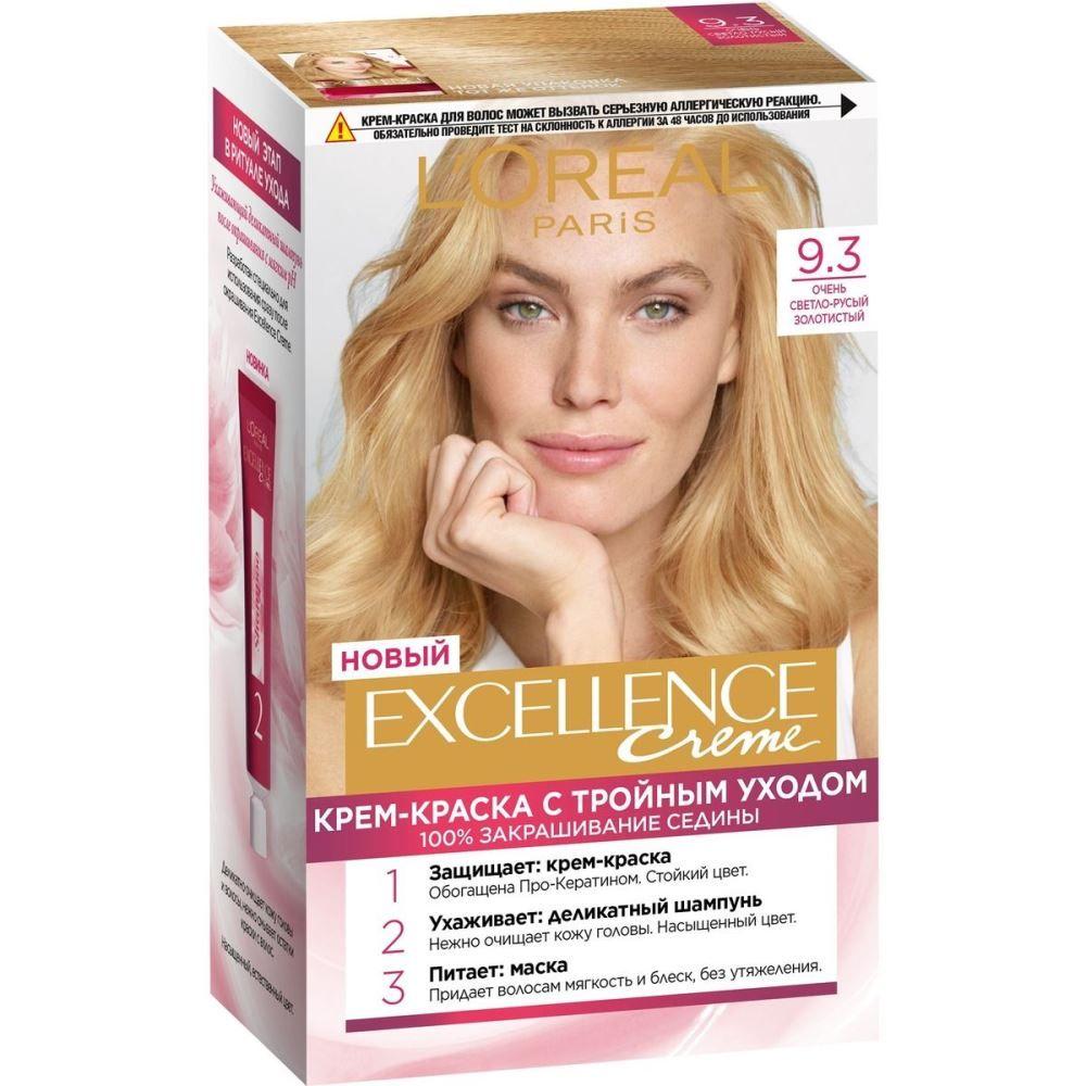 Купить Loreal Excellence Краска для волос тон 9.3 Светлый русый золотой, Loreal Paris