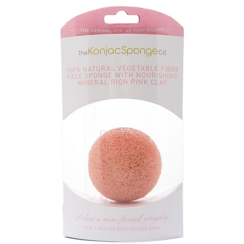 The Konjac Sponge Спонж для умывания лица Premium Facial Puff with Pink Clay С розовой глиной для чувствительной кожи от Лаборатория Здоровья и Красоты