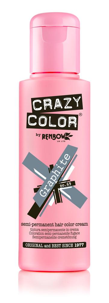 Купить Crazy Color Краска для волос Graphite / Графит 69 100мл
