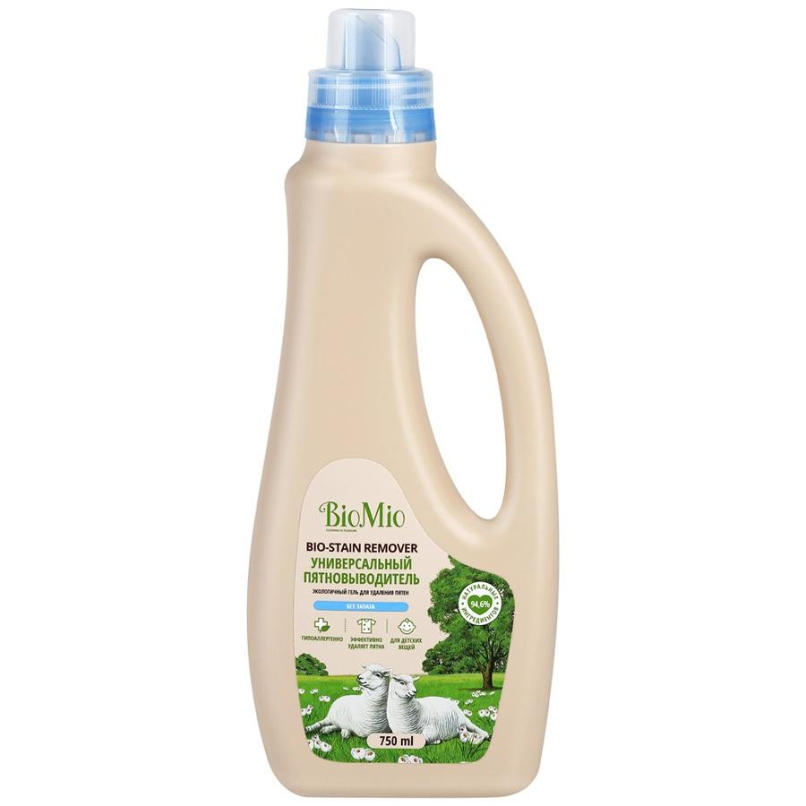 Купить BIOMIO BIO-STAIN REMOVER Экологичный универсальный пятновыводитель для стирки белья 750мл