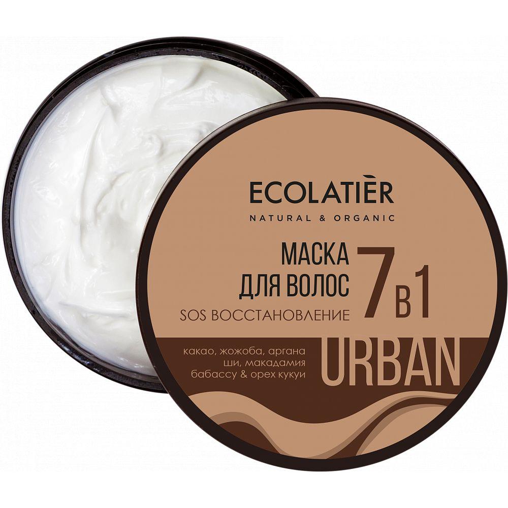Купить Ecolatier Urban Маска для волос SOS Восстановление 7 в 1 какао и жожоба 380 мл