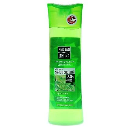 Купить Чистая Линия Шампунь для всех типов волос укрепляющий на отваре целебных трав Крапива 400мл