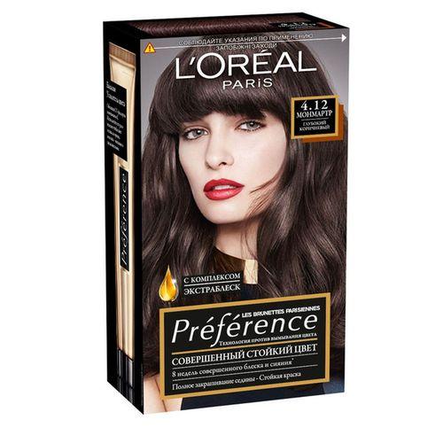 Loreal Preference краска для волос 4.12 Монмартр глубокий коричневый фото