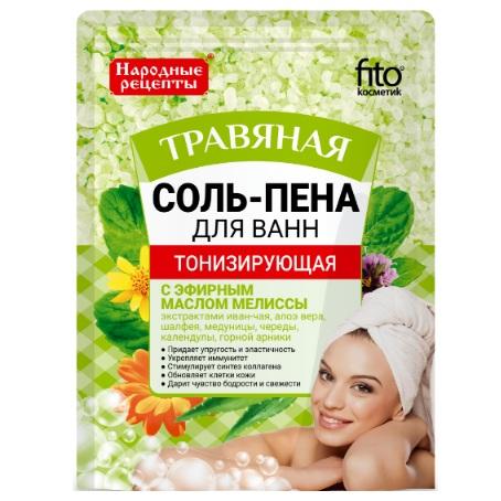 Купить Фитокосметик Народные рецепты соль-пена для ванн тонизирующая травяная 200г