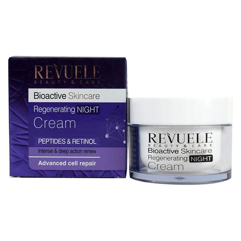 Купить Revuele Bioactive skincare Peptides&Retinol Крем-уход для лица ночной регенерирующий 50мл