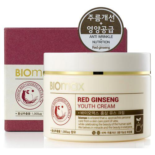 BIOmax крем для молодости кожи с экстрактом красного женьшеня 100мл.