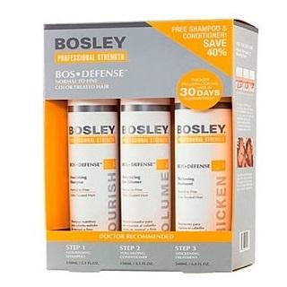 Bosley Система ЖЕЛТАЯ для нормальных и тонких ОКРАШЕННЫХ волос (шампунь,кондиционер,уход)