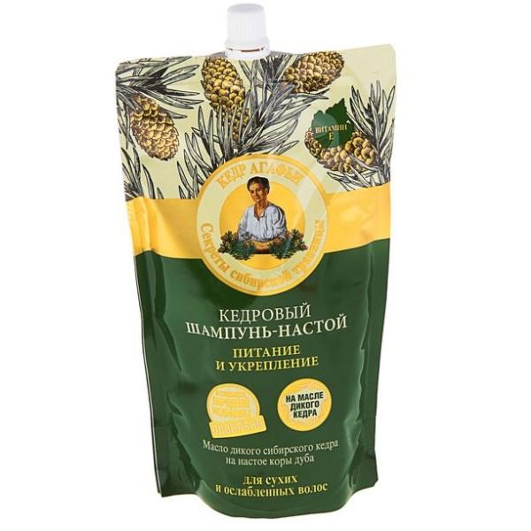 Купить Рецепты Бабушки Агафьи Шампунь-настой для волос Кедровый питание и укрепление 500мл, Рецепты бабушки Агафьи