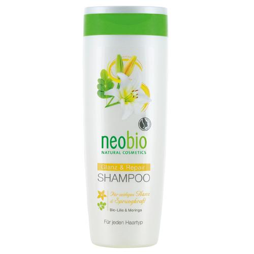Купить Необио Шампунь для восстановления и блеска волос с био-лилией и морингой 250 мл, Neobio