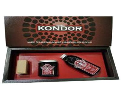 Kondor Набор: шампунь Деготь 300мл+гель для бритья 250мл+мыло Кофе 130г от Лаборатория Здоровья и Красоты