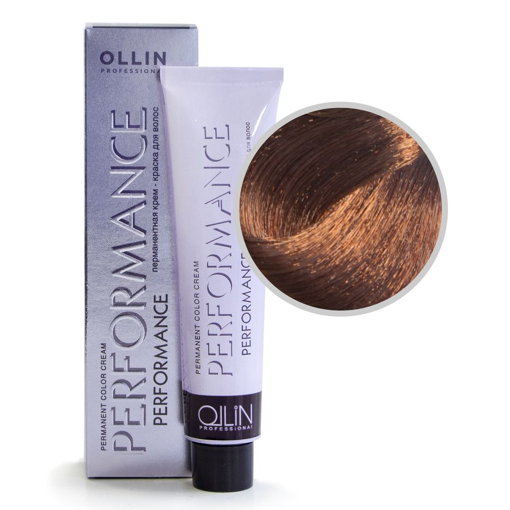 Ollin Performance 7/75 русый коричнево-махагоновый Перманентная крем-краска для волос 60мл