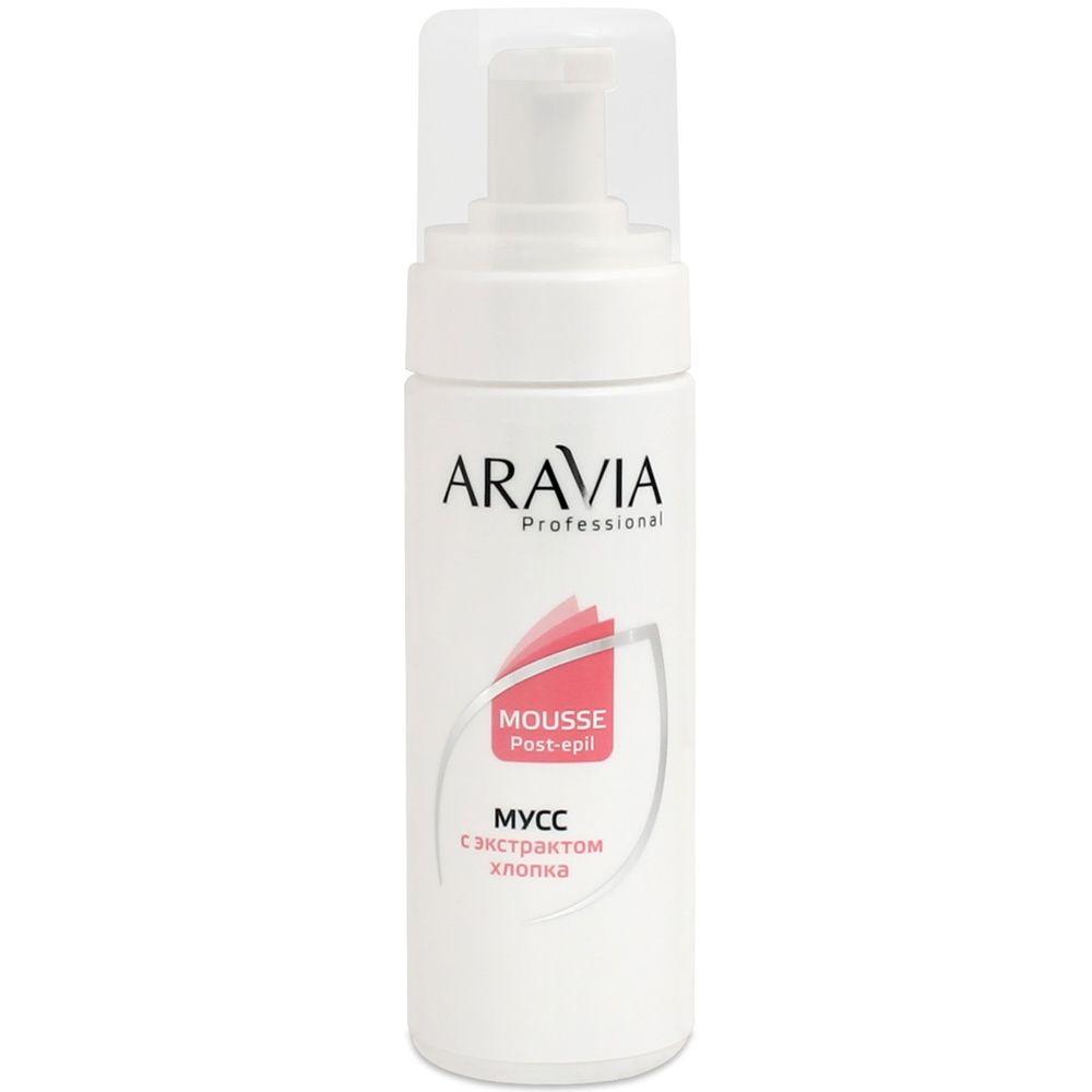 Купить Aravia Мусс после депиляции с экстрактом хлопка 160мл, Aravia Professional
