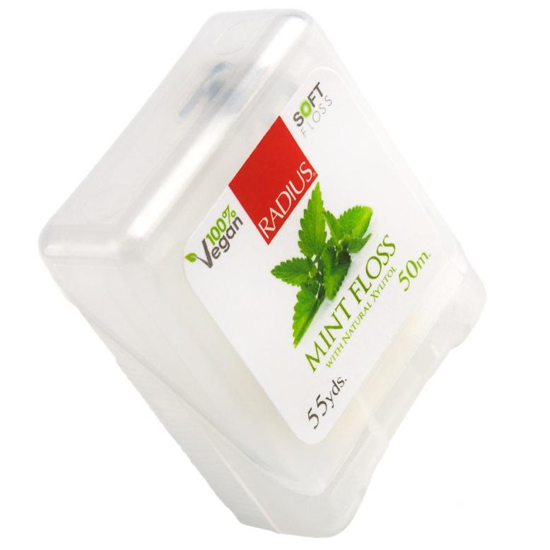 Радиус (Radius) Floss Vegan Xylitol Mint 55 Yds нить зубная со вкусом мяты от Лаборатория Здоровья и Красоты