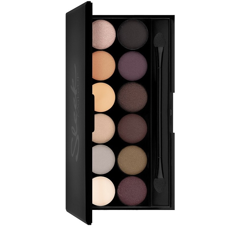 Sleek Makeup Eyeshadow Palette I-Divine Тени для век в палетке, тон 601 AU Natural, 12 тонов