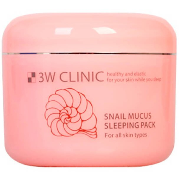 Купить 3W Clinic Маска для лица ночная Муцин улитки Snail Mucus Sleeping Pack 100мл