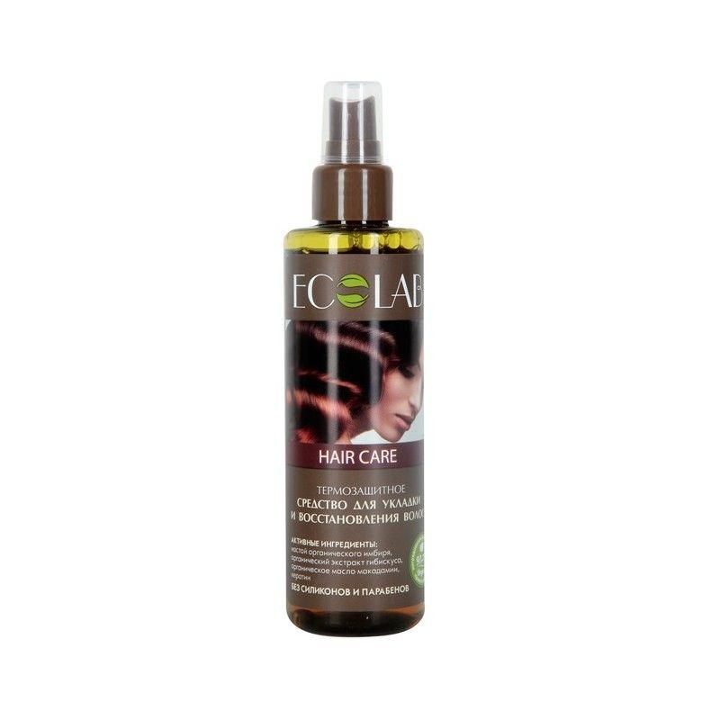 Эколаб Средство-спрей для укладки и восстановления волос Термозащитный 200 мл