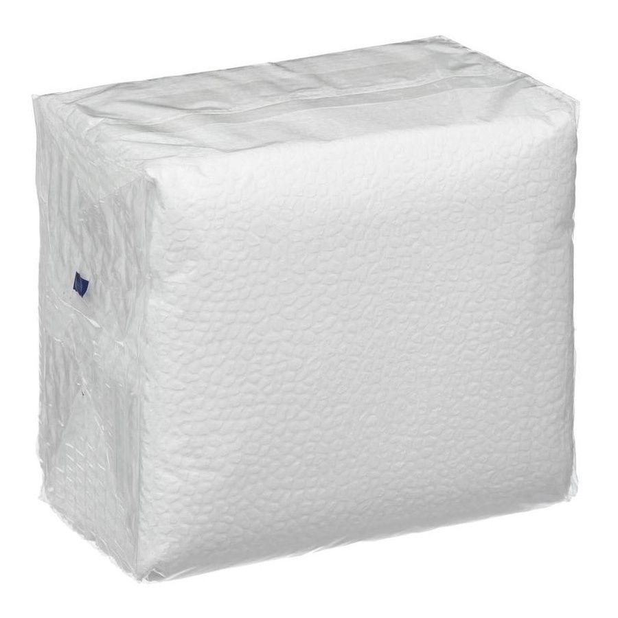Салфетки бумажные однослойные однотонные белые 12х12см 50шт