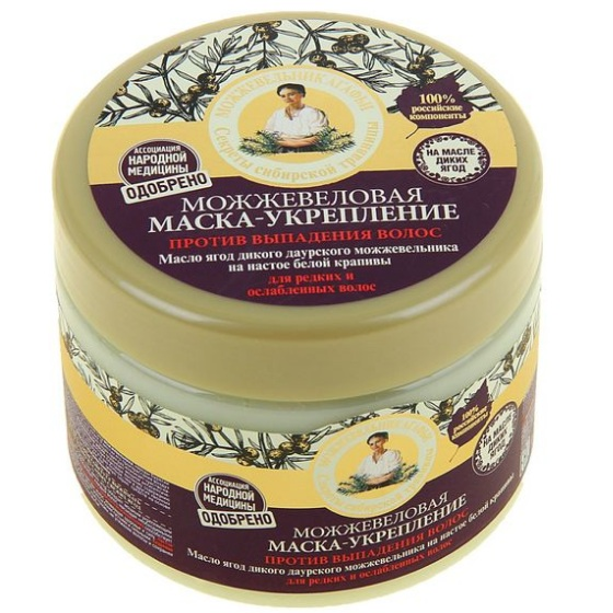 Купить Рецепты Бабушки Агафьи Маска для волос укрепление против выпадения можжевеловая 300мл, Рецепты бабушки Агафьи