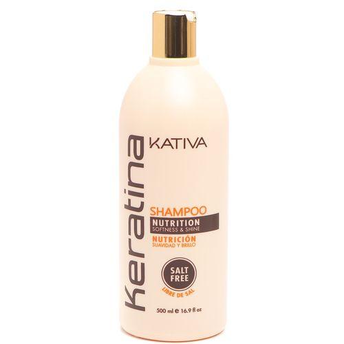 Купить Kativa Keratina укрепляющий шампунь с кератином для всех типов волос 500мл