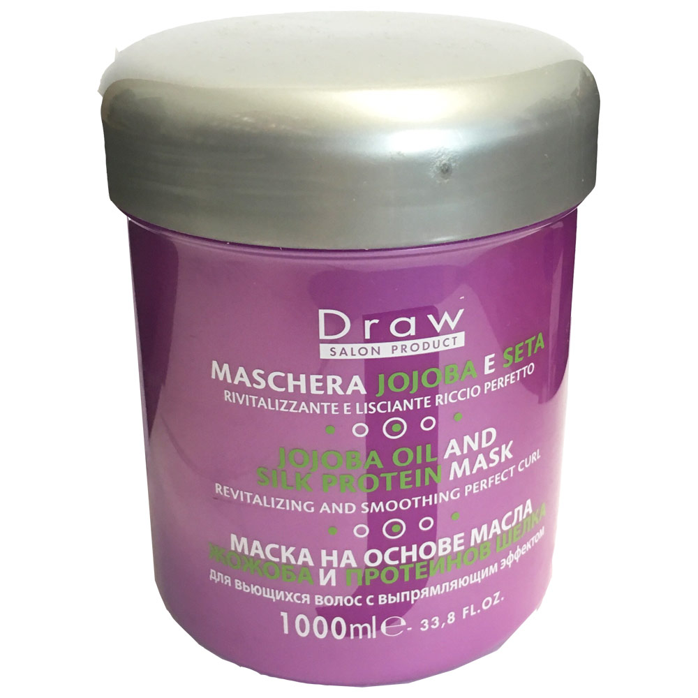Draw Маска на основе масла жожоба и шелковых протеинов для волос 1000 мл