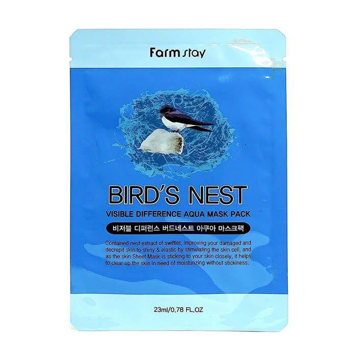 Купить FarmStay Тканевая маска для лица увлажняющая с экстрактом ласточкиного гнезда 23мл, Farm Stay