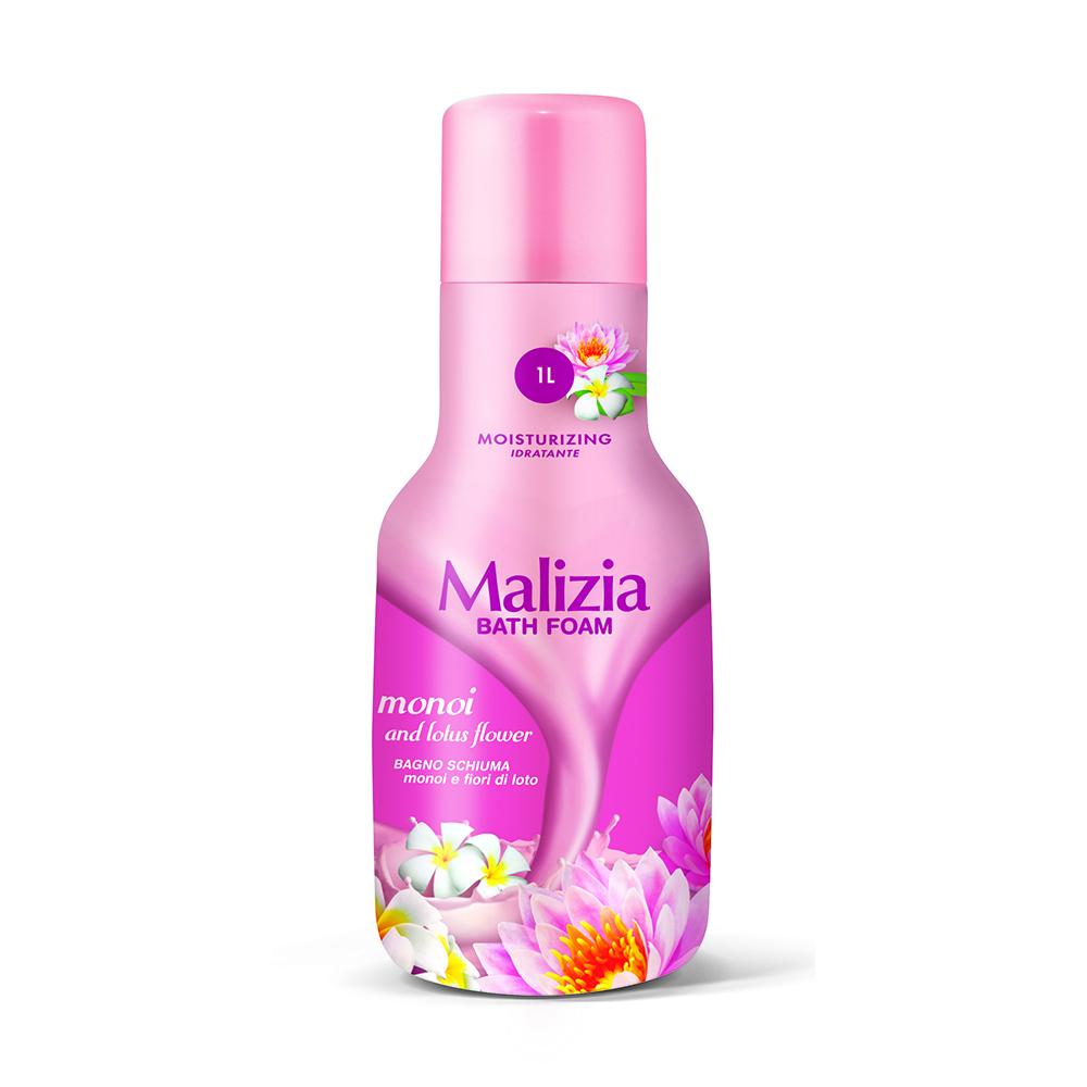Malizia Пена для душа и ванны Монои и лотос MONOI 1000 мл