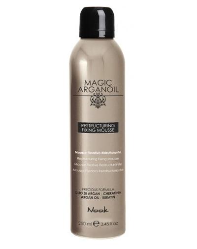 Nook Magic Arganoil Мусс для укладки волос средней фиксации Restructuring Fixing Mousse 250 мл
