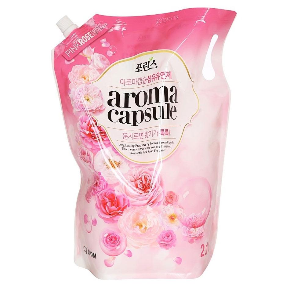 Купить Lion кондиционер для белья Aroma Capsule с ароматом розы 2100мл
