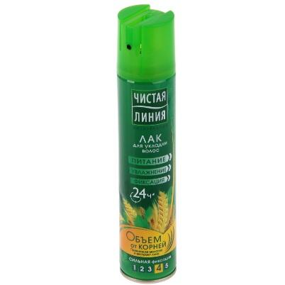 Купить Чистая Линия Лак для укладки волос Объем от корней 200мл, Чистая линия