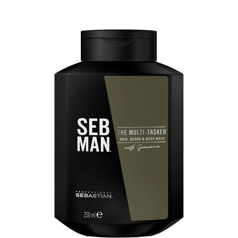 Купить Sebastian SEBMAN THE MULTITASKER 3 в 1 Шампунь для ухода за волосами бородой и телом 250мл, Sebastian Professional