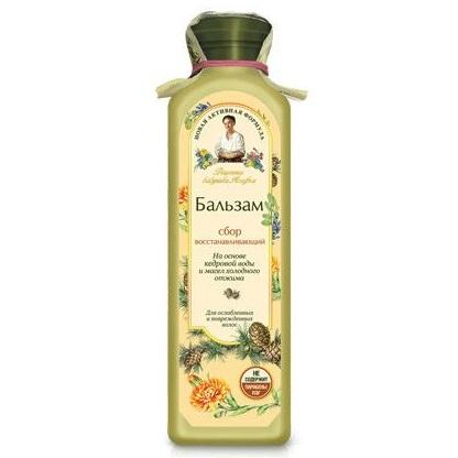 Купить Рецепты Бабушки Агафьи Бальзам для волос сбор Восстанавливающий для поврежденных волос 350мл, Рецепты бабушки Агафьи