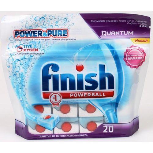 Finish Quantum PowerBall Power&Pure Моющее средство для мытья посуды в посудомоечных машинах в таблетках 20 шт от Лаборатория Здоровья и Красоты