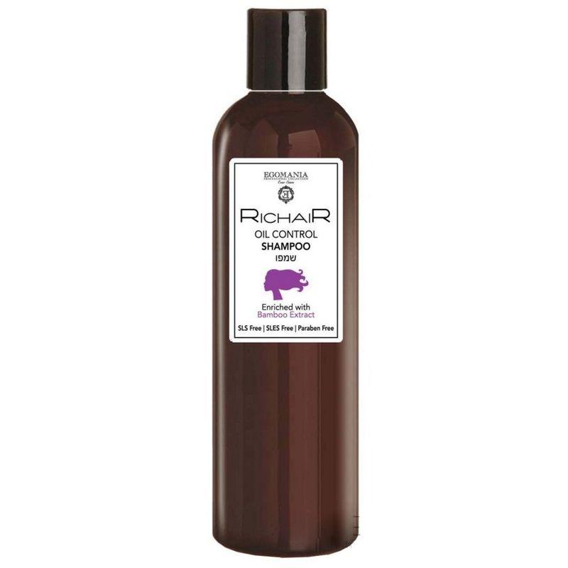 Купить Egomania Шампунь для контроля жирности кожи головы с экстрактом бамбука RICHAIR 400мл