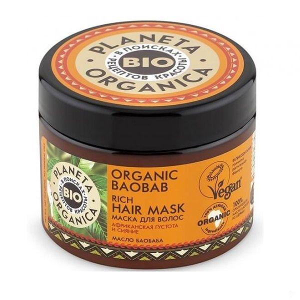 Купить Планета органика Organic baobab маска для волос густая 300 мл, Planeta Organica