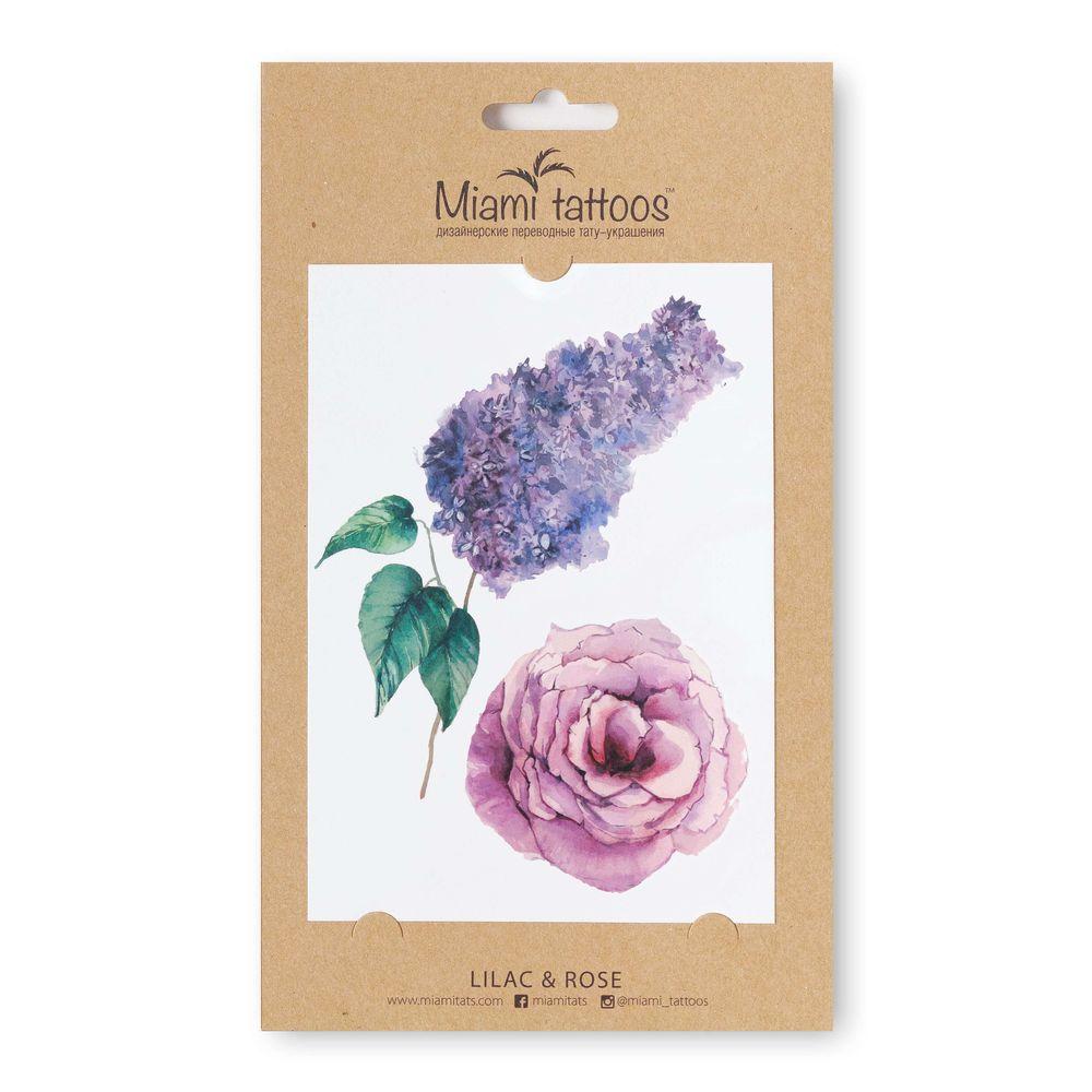 Miami tattoos акварельные переводные тату lilac
