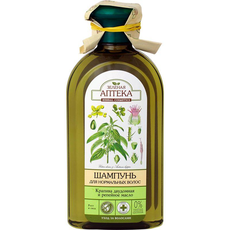 Купить Зеленая аптека шампунь Крапива/репейное масло для нормальных волос 350 мл
