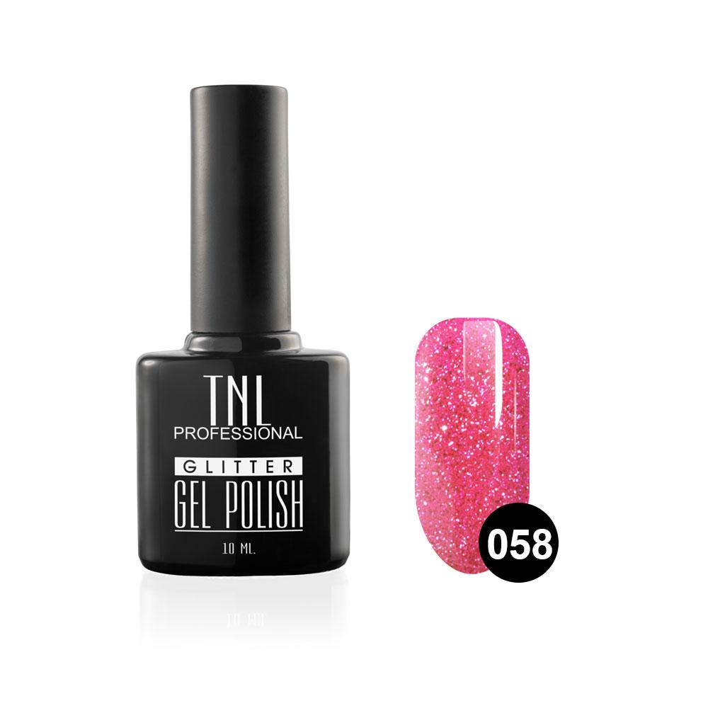 Tnl гель-лак glitter №58 - блестящий