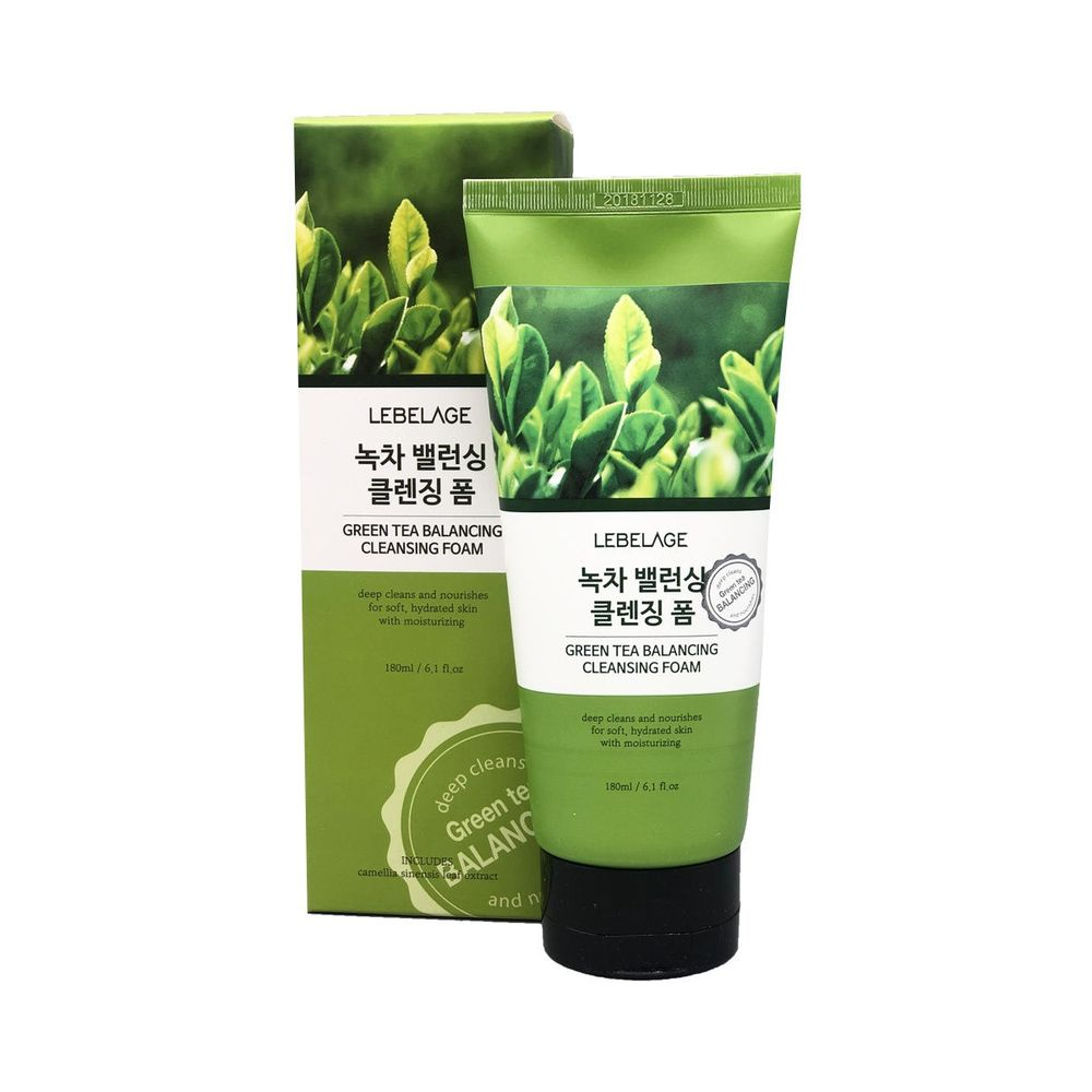 Lebelage Пенка балансирующая для умывания с зеленым чаем 180мл