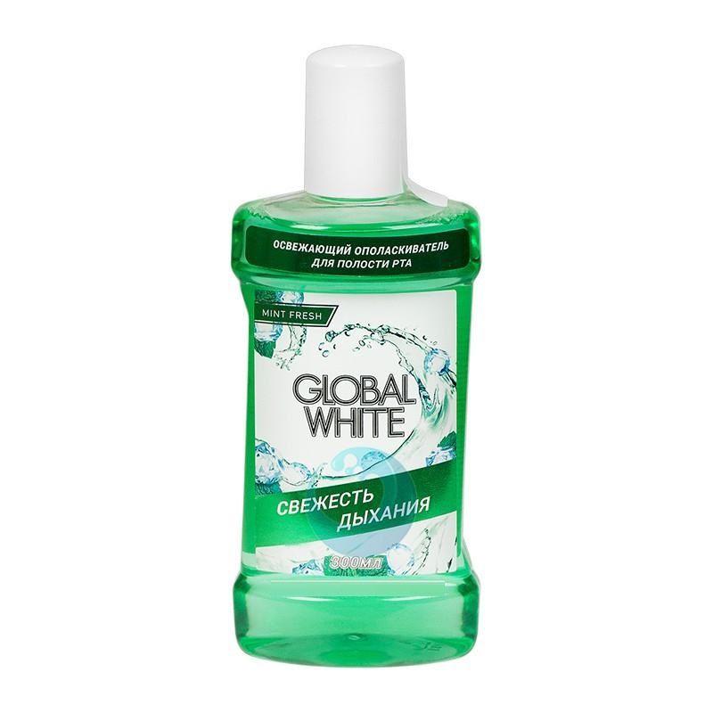 Купить Global white Ополаскиватель освежающий Олива и петрушка 300мл