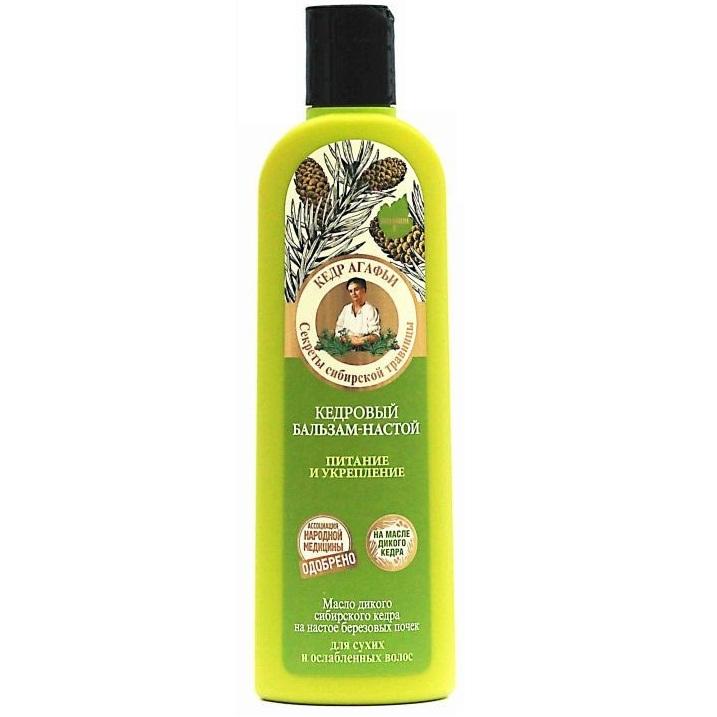 Купить Рецепты Бабушки Агафьи Бальзам для волос настой Кедровый питание и укрепление для сухих и ослабленных волос 280мл, Рецепты бабушки Агафьи